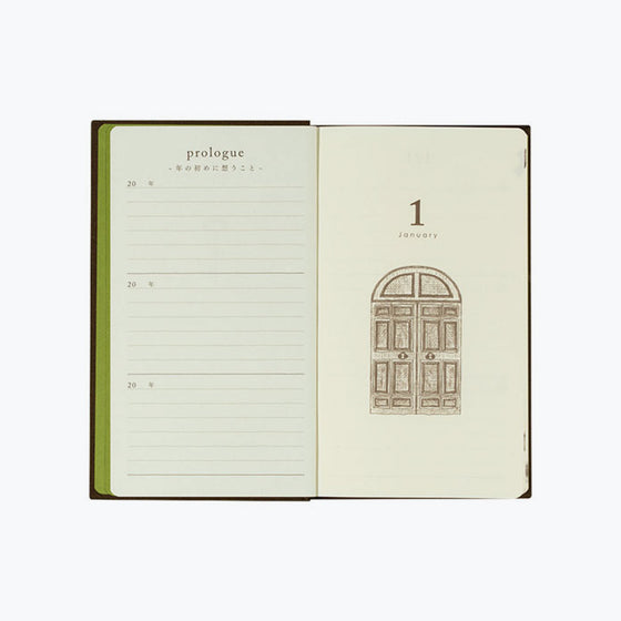 Midori - Daily Journal - 3 Years - Brown