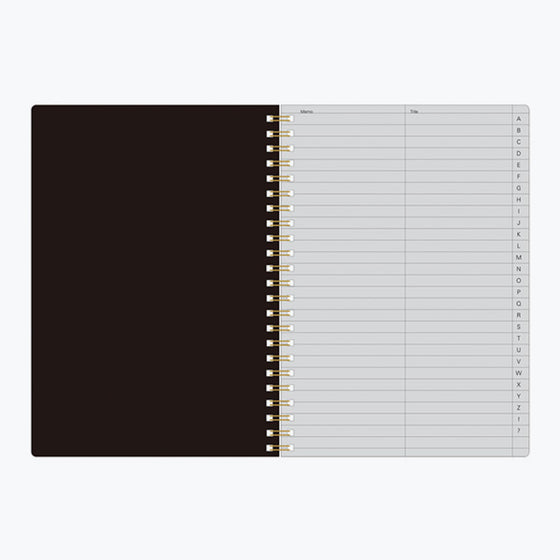 Midori - Notebook - Search Notes - A5 - Black