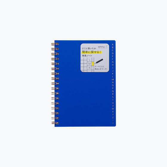 Midori - Notebook - Search Notes - A6 - Blue