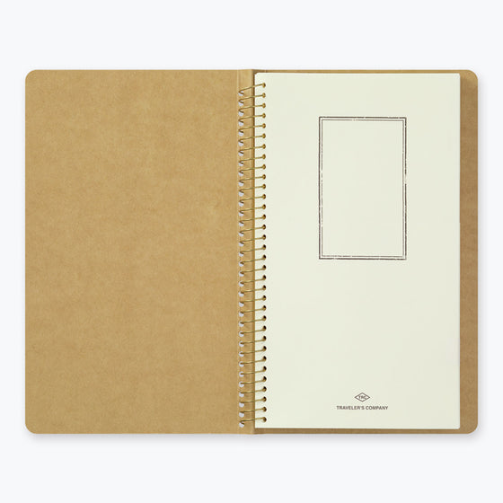 Midori - Notebook - Spiral Ring - A5 Slim - Paper Pocket