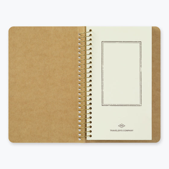 Midori - Notebook - Spiral Ring - A6 Slim - Paper Pocket