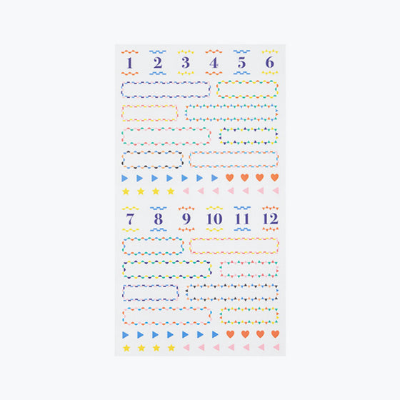 Midori - Planner Sticker - Seal Collection - Border Colour