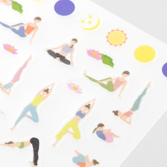 Midori - Planner Sticker - Seal Collection - Yoga