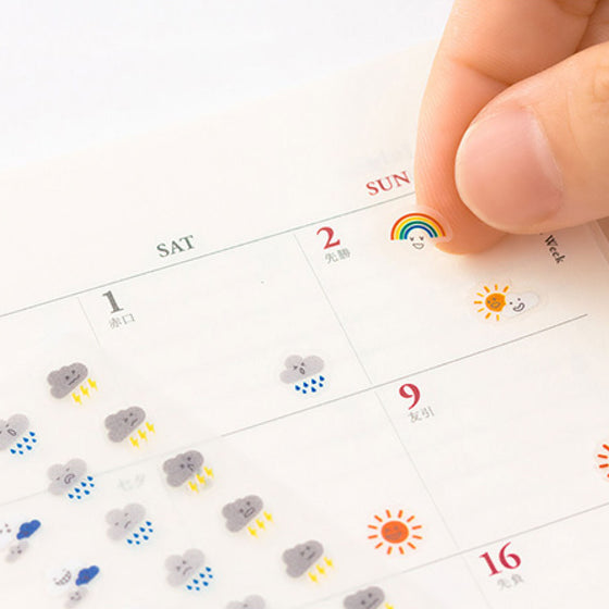 Midori - Planner Sticker - Seal Collection - Weather