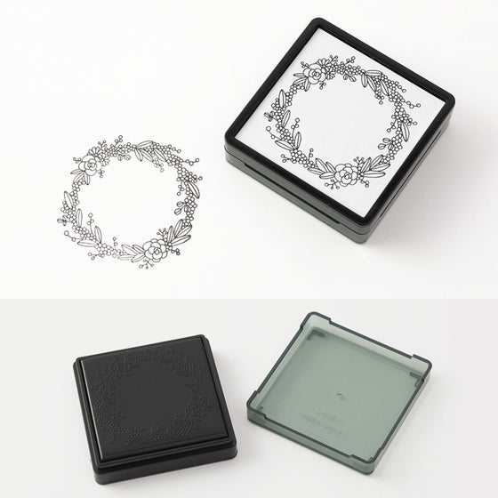 Midori - Stamp - Self-Inking - Wreath