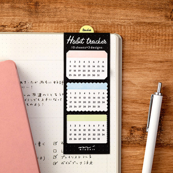 Midori - Sticker Seal - Habit Tracker - Shapes