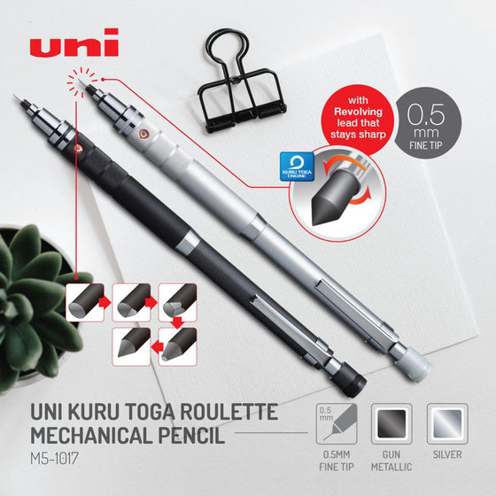 Mitsubishi - Mechanical Pencil - Kuru Toga - Silver