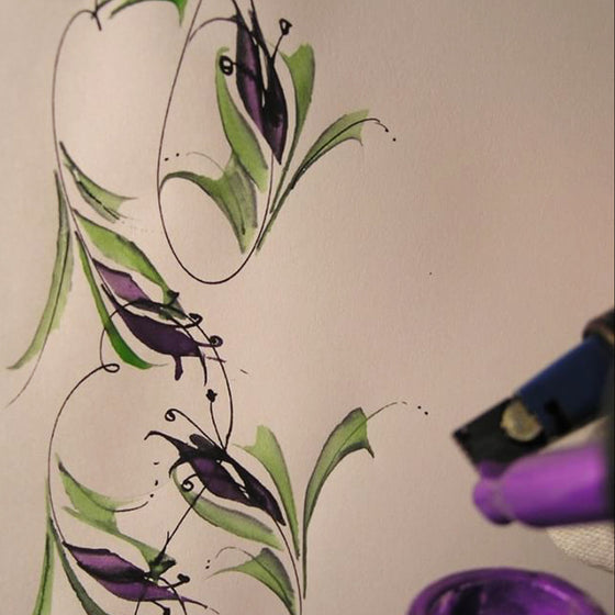 Bookbinders Design - Flourishing Florals: An Intro to the Parallel Pen