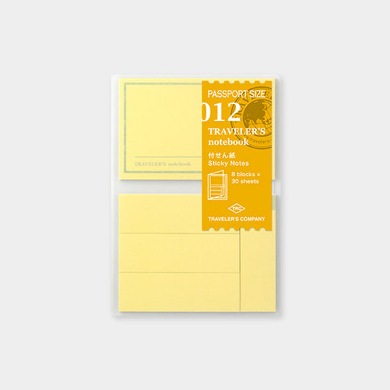 Traveler's Company - Inserts - Passport - 012 Sticky Notes