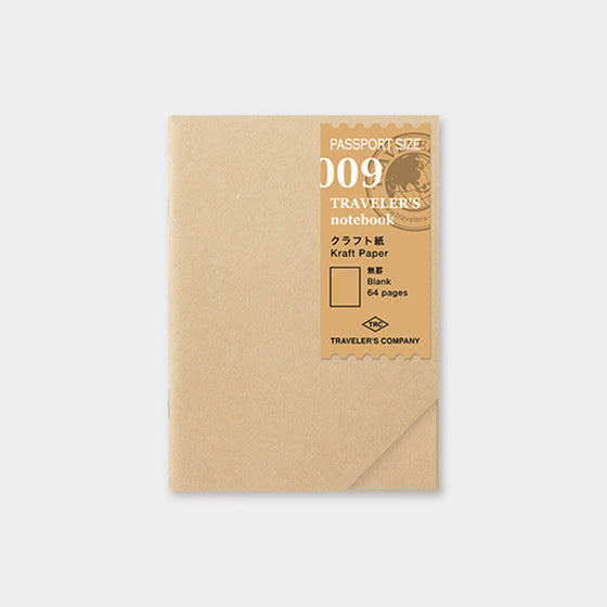 Traveler's Company - Inserts - Passport - 009 Kraft Paper