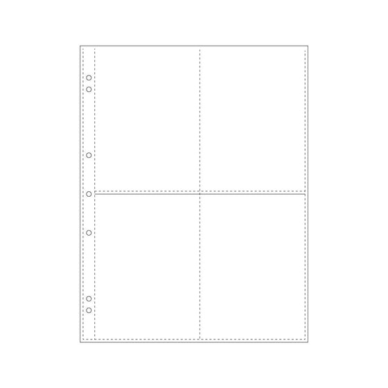 Bookbinders Design - Insert - Plastic Pocket - A4 Quad