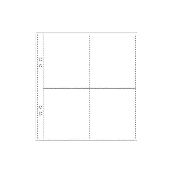 Bookbinders Design - Insert - Plastic Pocket - Regular - Quad