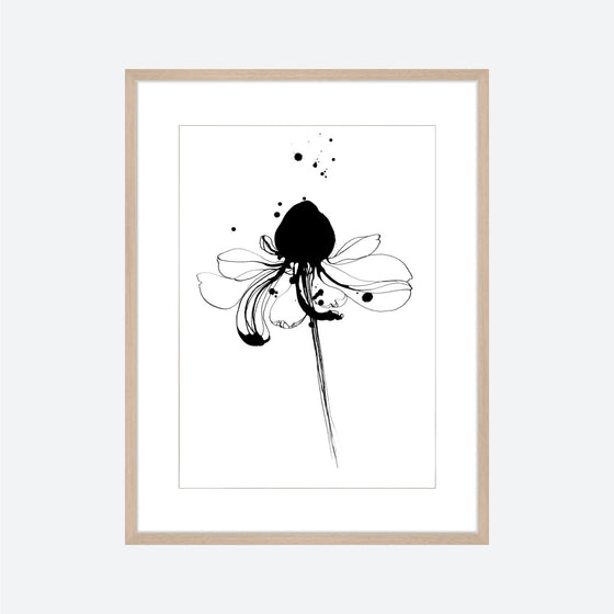 Toril Baekmark - Fine Art Prints - Black Flowers No.3
