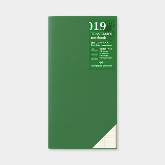 Traveler's Company - Inserts - Regular - 019 Free Diary (Weekly with Memo)