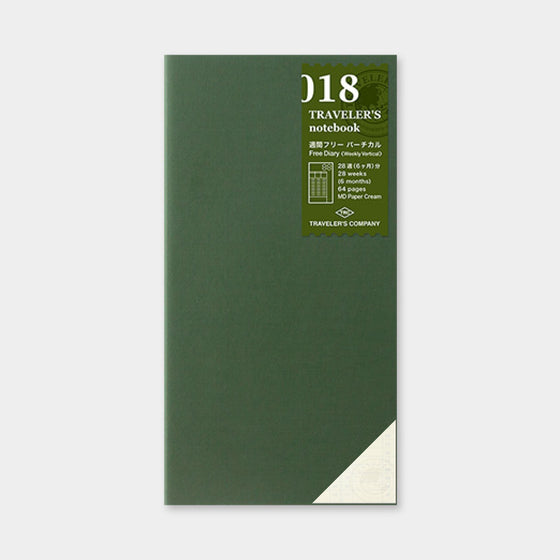 Traveler's Company - Inserts - Regular - 018 Free Diary (Weekly)