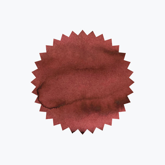 Burgundy ink swatch