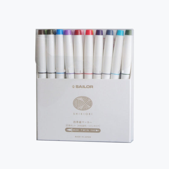 Sailor - Brush Pens - Shikiori - Set of 20