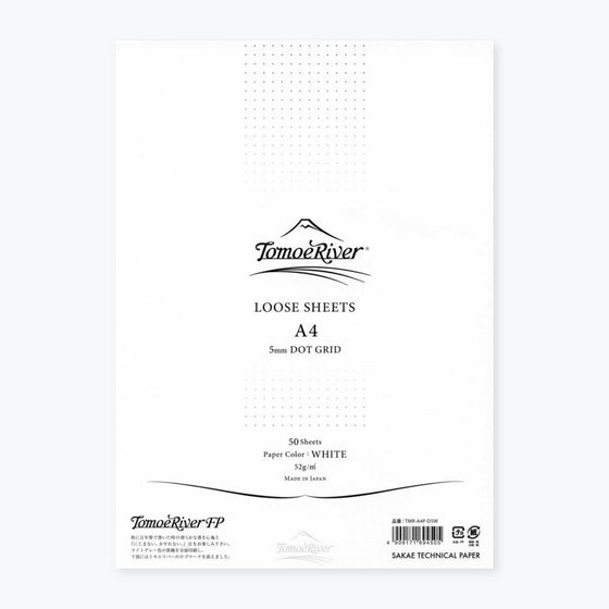Tomoe River - Loose sheets - A4 - White - Dotted