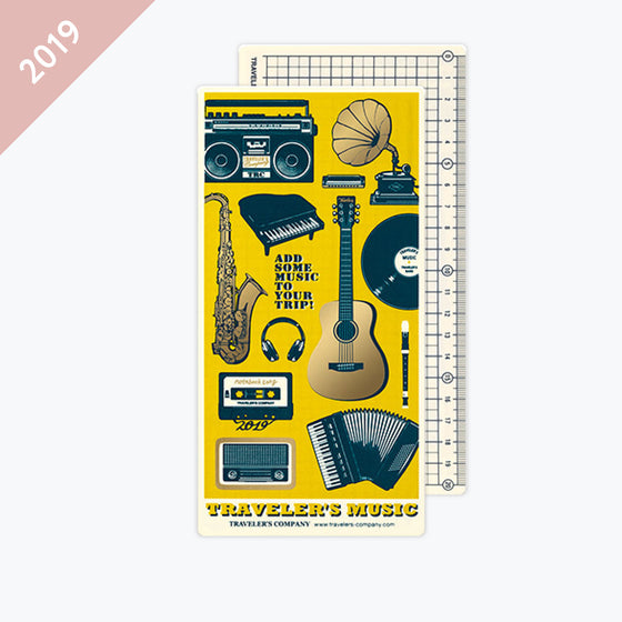 Traveler's Company - 2019 Diary Insert - Regular - Backing Sheet