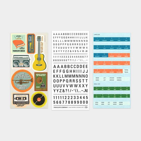 Traveler's Company - 2019 Diary Insert - Sticker Pack
