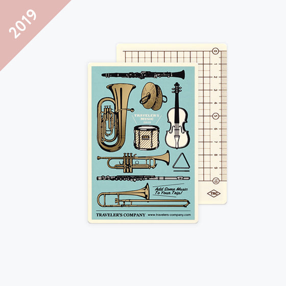 Traveler's Company - 2019 Diary Insert - Passport - Backing Sheet