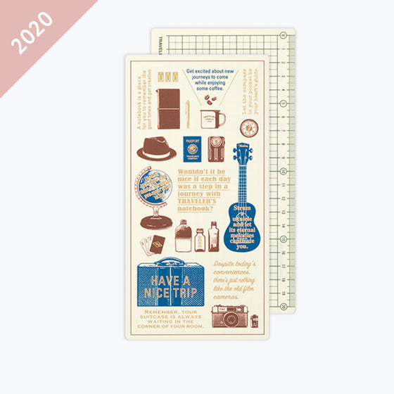 Traveler's Company - 2020 Diary - Insert - Regular - Backing Sheet