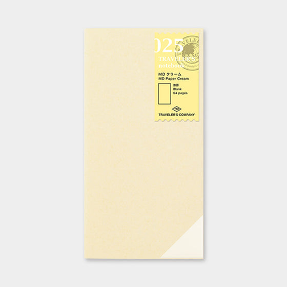 Traveler's Company - Inserts - Regular - 025 MD Cream Paper