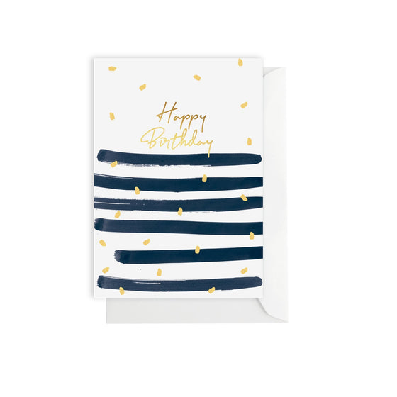 ELM Paper - Card - Birthday - Birthday Stripe