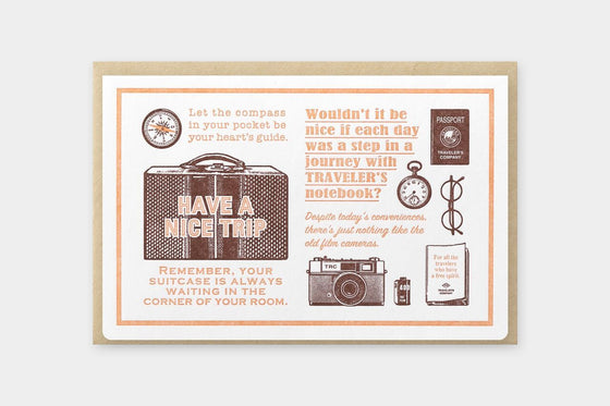 Traveler's Company - Letterpress Card - Brown