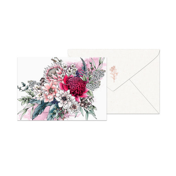 Typoflora - Notecards - Waratah Bouquet
