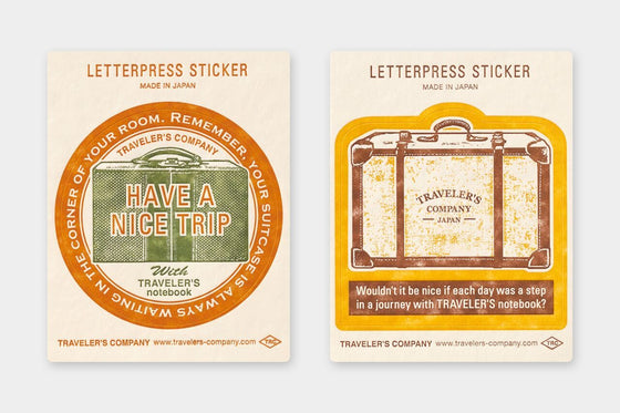 Traveler's Company - Letterpress Sticker - Yellow