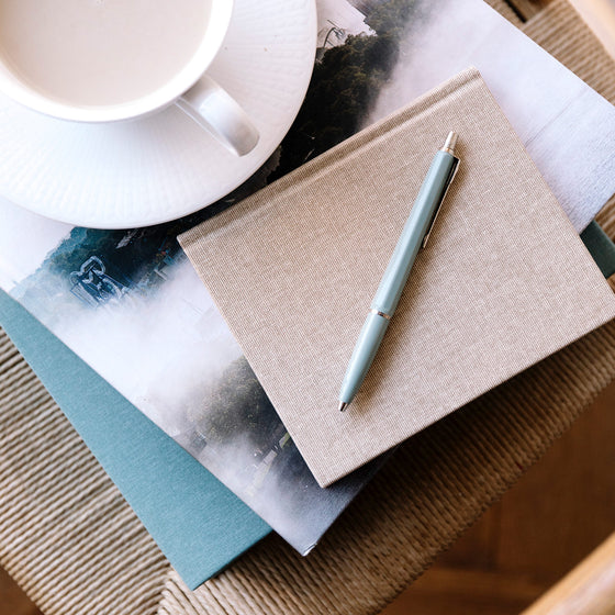 Bookbinders Design - Cloth Notebook - Regular - Smoke Blue