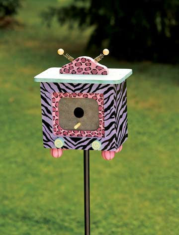 Animal Print Birdhouse