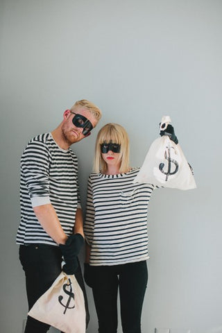 Say Yes blog dressed up as a robber couples costume
