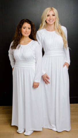 LDS temple dresses from White Elegance