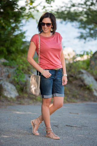 See how Jo-Lynne Shane styled some denim shorts