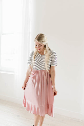 light pink modest dress
