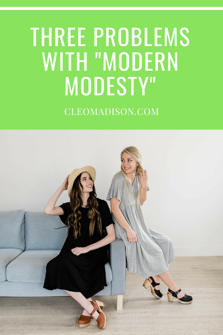 Blog post that discusses the 3 problems with modern modesty