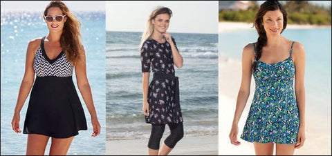 examples of swim dresses