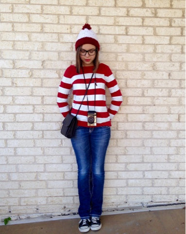 Maddie and Ashley Beauty Blog Where's Waldo costume for women