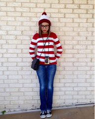 19 easy modest halloween costumes youll love cleo madison maddie and ashley beauty blog wheres waldo costume for women solutioingenieria Choice Image