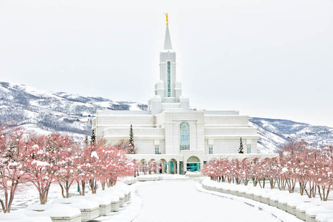 LDS temple in Bountiful Utah