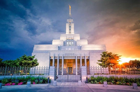 LDS temple in Draper Utah