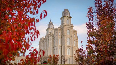 LDS temple in Manti Utah