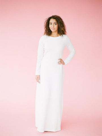 Marilyn white temple dress from Qnoor