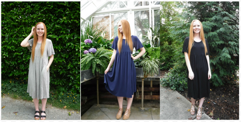 modest peplum dresses