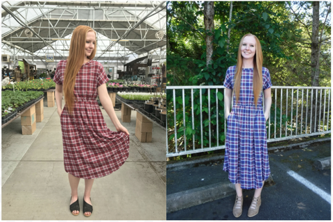 modest plaid dresses
