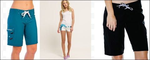 examples of women's board shorts