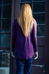 Long sleeve purple shirt back