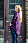 Long sleeve purple shirt side